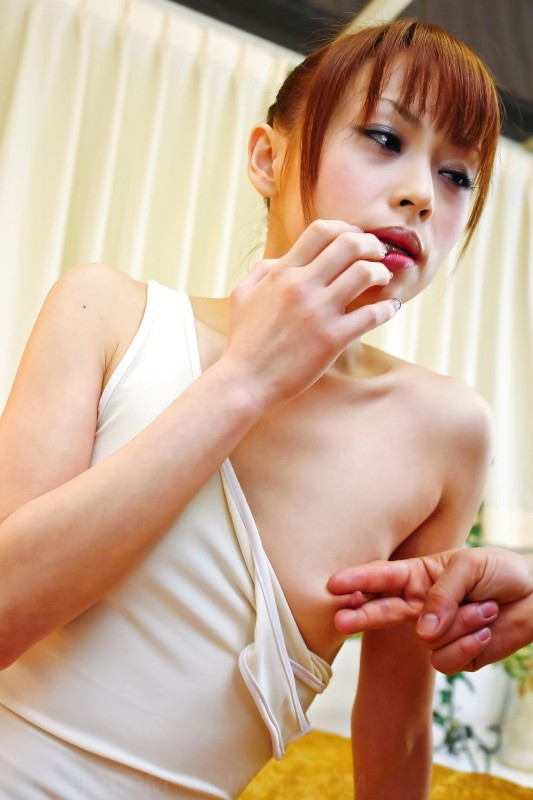 Miina Yoshihara one tit out and pinched nipple
